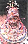 East African bridal headdress