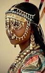 African gold bridal veil