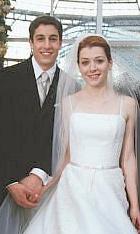 Traditional American bride & groom