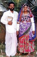 Indian Banjara (Gypsy) wedding attire (man wearing dhoti)